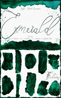 #Emerald #Green #Greenery #Digital #Textures #Watercolor #Wedding #Stationary #Branding #Abstract