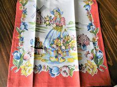 1940s Dutch Garden girl towel