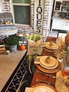 Fall Farmhouse Tablescape - House of Hargrove