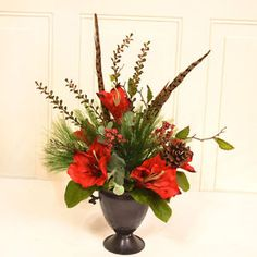 floral home decor amaryllis floral arrangement - Categoria: Avisos Clasificados Gratis  Item Condition: New with tagsHave Questions? Frequently Asked Questions Contact Us Store PolicyFloral Home Decor Amaryllis Floral ArrangementOUR SKU# FLHD1298 MPN: CR1553 ConditionBrand NewShippingFree Shipping! Ships In 3 days With a transit time of 15 business daysStandard Ground eg UPS, FedExProduct DetailsFeaturesRed amaryllisLush pine and berriesPheasant feathers, espresso finish urnMade in the…