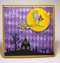 Check out the deal on Halloween Hill Die at Impression Obsession Rubber Stamps Fall Cards, Winter Cards, Halloween Cat, Holidays Halloween, Impression Obsession Cards, Celebration Day, Halloween Backgrounds, Embossed Cards, Holiday Wishes