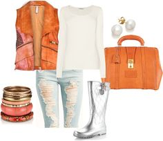 """Groovy rain boots"" by damikacolbert on Polyvore"