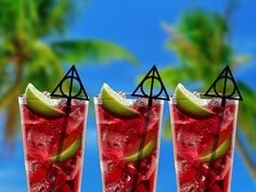 Harry Potter Inspired Deathly Hallows Cocktail Stirrers