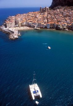 Cefalù, Palermo, province of Palermo, Sicily Italy--- we drove by on the honeymoon but didn't have the time to stop--- oh well guess we will have to go back!!!