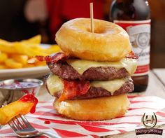 What. | Here's Everything You Need To Know About Hungry Horse's Insane 2,000 Calorie Donut Burger