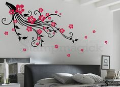 Tree Branch Wall Decal Flower Branch Wall Decal por stampmagick