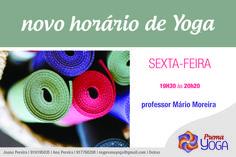 Horário de Hatha Yoga à sexta-feira