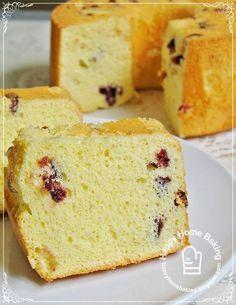 Cranberry Yoghurt Chiffon Cake
