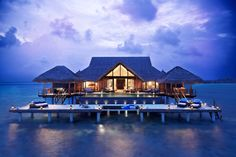 Resort and spa on the Maldives Islands