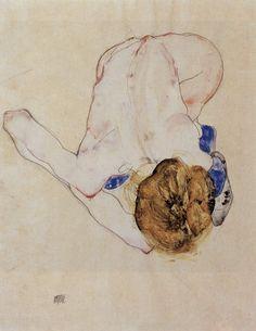 Egon Schiele. same pose as the ol' Rodin drawing final.