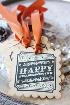 Happy Thanksgiving vintage gift tags - set of 6. via Etsy.