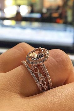 30 Morganite Engagement Rings We Are Obsessed With ❤️ See more: http://www.weddingforward.com/morganite-engagement-rings/ #wedding
