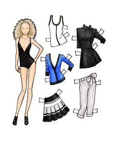 (⑅ ॣ•͈ᴗ•͈ ॣ)♡                                                             ✄Fashion paper dolls   final fashion » paper doll – SEARS Attitude SS10
