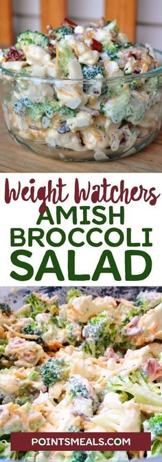 Amish Broccoli Salad… This is to die for… More from my site Weight Watchers Skinny Broccoli Salad! – Recipe Solution One-Skillet Chicken and Broccoli Dinner German Cucumber Salad Kartoffelsuppe Bunter Nudelsalat nach Weight Watchers Amish Recipes, Ww Recipes, Salad Recipes, Cooking Recipes, Healthy Recipes, Healthy Soup, Soup Recipes, Cooking Time, Summer Salads