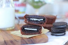 Oreo and nutella brownies