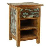 This is the perfect pick for your rustic bedroom style. The well-worn, antiqued finish of this reclaimed wood nightstand will complete your bedroom style. The two shelves and drawer add plenty of stor Furniture Deals, Rustic Furniture, Furniture Storage, Handmade Furniture, Garden Furniture, Rustic Wood, Rustic Decor, Distressed Wood, Barn Wood