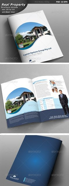 Real Estate Trifold Brochure  Brochures Brochure Template And