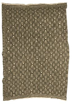 Bogolanfini wrapper, tamani  Strip-woven cotton cloth, earth pigments, plant dyes  N'ya Diarra  Ben, Beledougou region, Mali