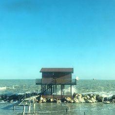 The house by the sea. #morning #sea #adriatic #adriaticsea #house #water #sky #sunnyday #igers #igersitalia #igersmarche #igersancona