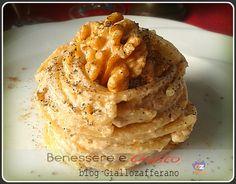 Ricetta d'autunno dal sapore intenso e corposo. Ricetta facile e veloce con Crema alle Noci.