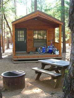 Cavco cabin, at McArthur Burney Falls State Park in California