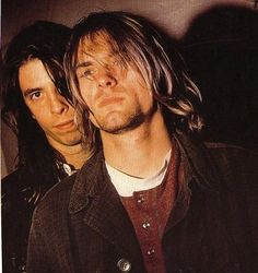 Kurt Cobain and Dave Grohl