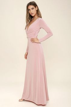 Bariano Test of Time Blush Pink Maxi Dress | Best Blush pink maxi ...