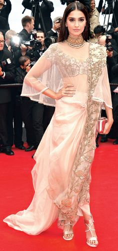 Sonam Kapoor: best of Anamika Khanna Bollywood Celebrities, Bollywood Fashion, Bollywood Style, Most Beautiful Dresses, Nice Dresses, Nyc Fashion, Indian Fashion, Cannes Film Festival 2014, Celebrity Magazines