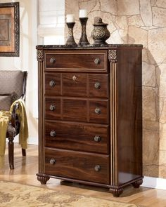 Gabriella Bedroom Chest B34746 -- More info could be found at the image url. (This is an affiliate link) #AshleyBedroomFurniture