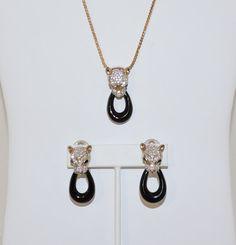 PANETTA Jaguar Pendant Necklace and Earring Set by KatsCache