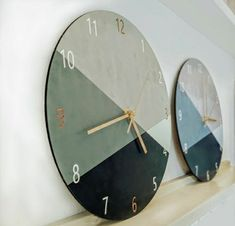 Scandinavian Wall Decor, Modern Wall Decor, Scandinavian Style, Mustard Walls, Minimalist Wall Clocks, Bedroom Clocks, Led Wall Clock, Diy Clock, Unique Wall Clocks