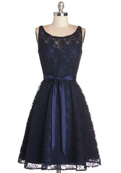 Simply Divine Dress in Navy. Heads turn at the breathtaking sight of you in this rich navy lace dress! #blue #wedding #bridesmaid #prom #modcloth