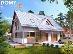 Projekt domu Jeżyna 3 - wizualizacja frontowa