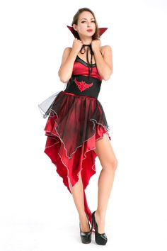 f20fd59263c7 Halloween Costumes 2016 >> Women Vampire Role Play Halloween Cosplay Dress  European Dress #scaryhalloweencostumes