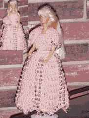 Scalloped Gown with Beads crochet pattern