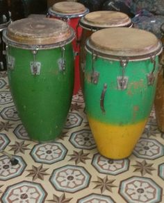Old Cuban Drums & The Guiro | Spanish pronunciation Percussion and Instruments Aboutintivar.Com