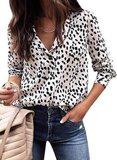 Blouse Women Long Sleeve Shirts Spring Summer 2019 Fashion V-Neck Blouse Shirt Casual Elegant Womens Tops and Blouses Look Fashion, Autumn Fashion, Fashion Outfits, Womens Fashion, Fashion Trends, Fashion Tips, Fashion Websites, Cheap Fashion, Affordable Fashion