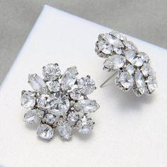 Bruids oorbellen sterren bloem oorbellen, strass oorbellen, bruiloft bruidsmeisjes oorbellen, Stud Earrings Stud Earrings, kerstcadeau, Gift van de verjaardag
