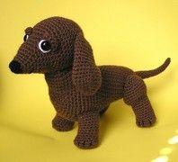OSCAR THE WEINER DOG PDF CROCHET PATTERN by bvoe668 on Etsy