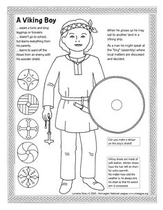Fun colouring page for little vikings
