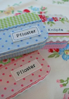 tins for fabric covered band aids.is going to make a cute gift...for me or someone else