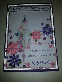 Happy 10th Birthday, Birthday Cards, Create, Amazing, Decor, Bday Cards, Anniversary Cards, Decorating, Dekoration