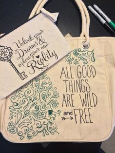 Sharpie doodle canvas tote bag DIY tutorial