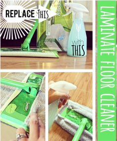 Make your own LAMINATE FLOOR CLEANER. Saves $$ and leaves your floor streak-free! {only requires 3 ingredients!}