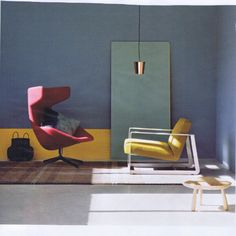 Love This Room. From the furniture choice to the colours. A simple room made interesting