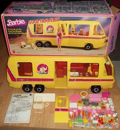 Vintage 1976 Barbie Star Traveler RV Camper Bus..