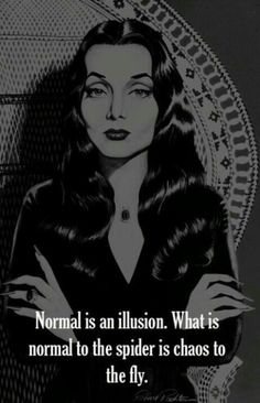 Normal is an illusion. Whar is normal to the spider is chaos to the fly.