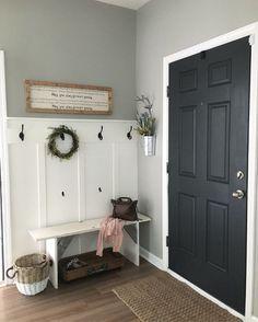 Foyer Colors, Modern Farmhouse Interiors, Interior Modern, Farmhouse Interior Doors, Scandinavian Interior, Kitchen Interior, Farmhouse Decor, Interior Design, Farmhouse Paint Colors