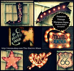 The Electric Moon Light Up Marquee Signs