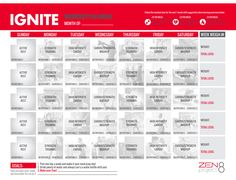 Zen Ignite Workout Calendar For products, go to cdteam2.jeunesseglobal.com